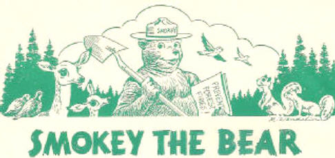 Smokey the Bear - Classroom Play Script, 1945 Illustration
