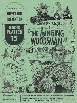 Smokey the Bear - Music in the Forest, Radio Ads, 1954 Illustration